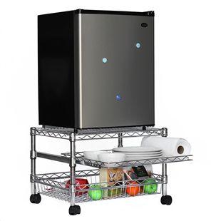Mini Fridge Cart For Dorms Shelving Com Dorm Storage Dorm Organization Dorm Room Organization