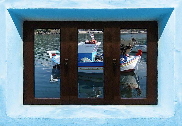 Window Into Greece 7 Outlook.  A New collection of digital paintings by Eric Kempson Eftalou, Molyvos, Lesvos, Greece  http://eric-kempson.artistwebsites.com www.epsilon-art.com