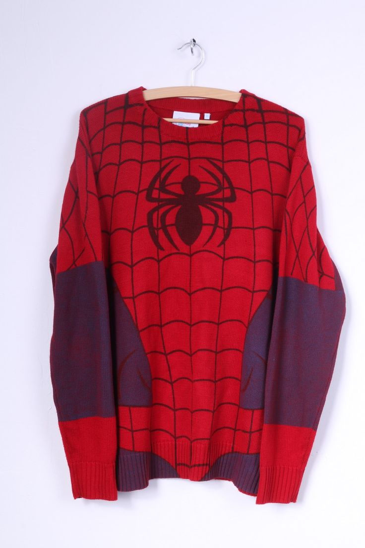 """Crazy Granny Spider-man Mens 2 L Jumper Sweater 15% OFF with code """"january15"""" at a checkout! Hurry Up, January is ending Soon!"""