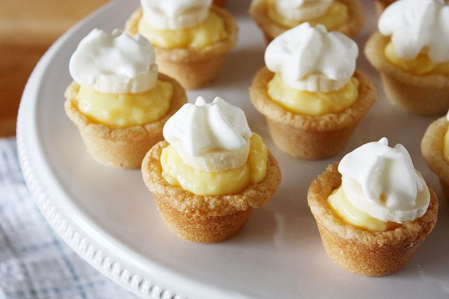 mini banana cream cookie pies.  These look great for holiday dessert, though I think I'll swap out the dreaded banana for chocolate and top with berries