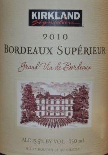 Costco 210 Bordeaux Superieur
