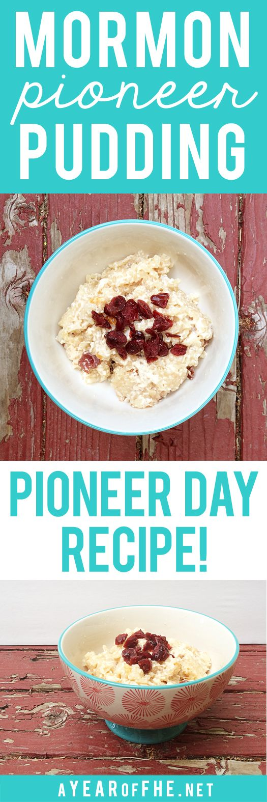 PIONEER PUDDING // This is an authentic recipe for a dessert the Pioneers made…