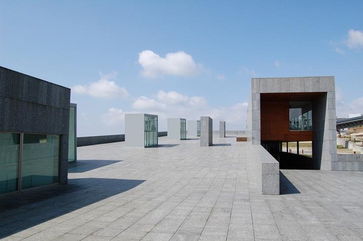 Arquitecturas na Universidade de Vigo - Biblioteca Central. Nesta biblioteca pasei moitas horas