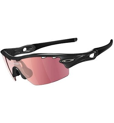 cheap oakley golf glasses  discount oakley radar path with jet black frame and grey lens. oakley radar pitch jet vented golf sunglasses