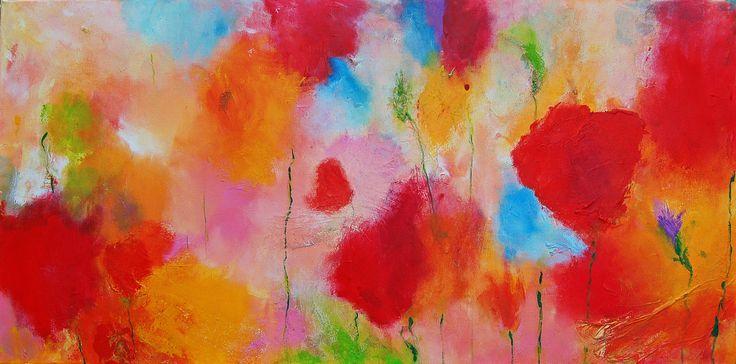 Sentiment de printemps I, acrylic, mixed media