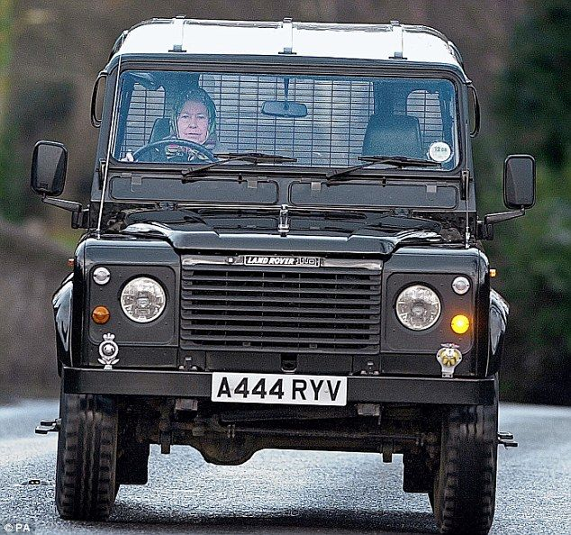 Royal choice: The Queen has driven tough, boxy Land Rovers most of her life