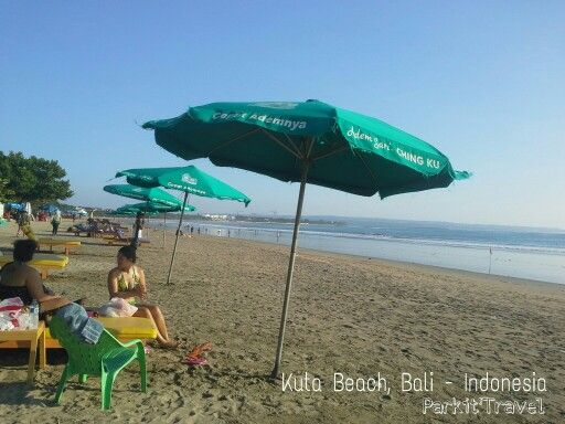 Kuta Beach in the afternoon.