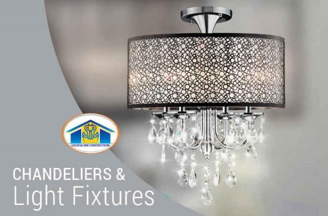 Chandeliers and Light Fixtures While the day starts and ends the natural light dims, brighten up your surrounding by turning on the lights .Modern lamps that fits in a best way for your trendy home. Dress up your home with stunning chandeliers