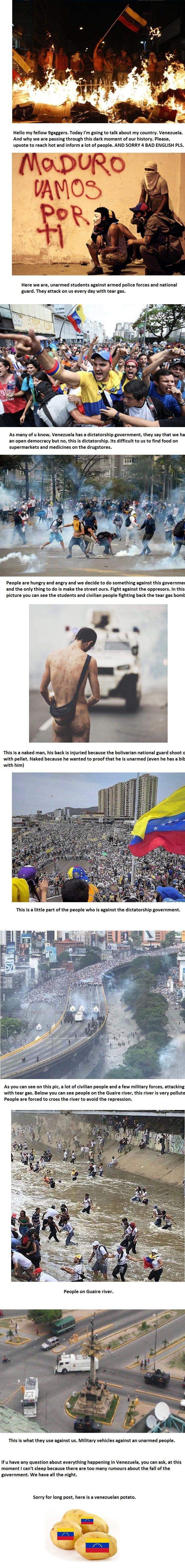 Venezuela in crisis, please upvote so we can inform other people about situation here in Venezuela. Thank you.