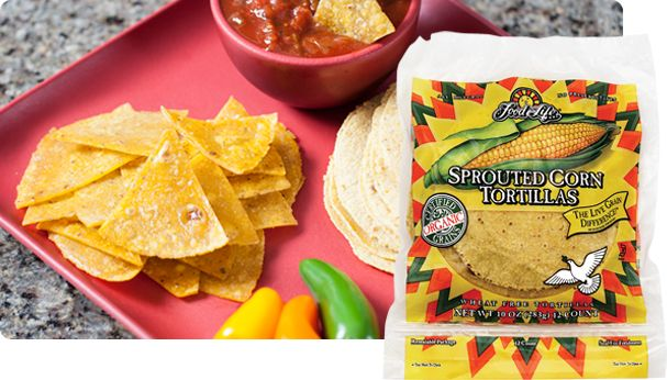Sprouted Corn Tortillas | Food For Life: Tortillas Chips, Sprouts Corn, Kernal Tacos, Corn Chips, 10 Oz, Tortilla Chips, Whole Grains, Corn Tortillas, Tacos Size