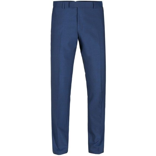 Alexandre of England Tadley Blue Slim Trouser (3.920 RUB) ❤ liked on Polyvore featuring men's fashion, men's clothing, men's pants, men's dress pants, mens slim fit dress pants, mens blue pants, mens slim fit pants, mens slim pants and mens blue dress pants