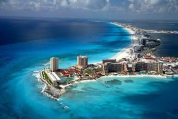 Cancun, beach, ocean, vacation
