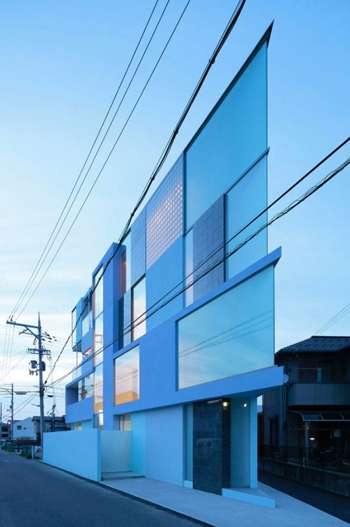 razor sharp flatironJapan, Easterndesign, Corner, Modern Architecture, Buildings, Flatiron Building, House, Eastern Design, Design Offices