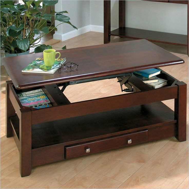 jofran 280 series wood lifttop coffee table in merlot