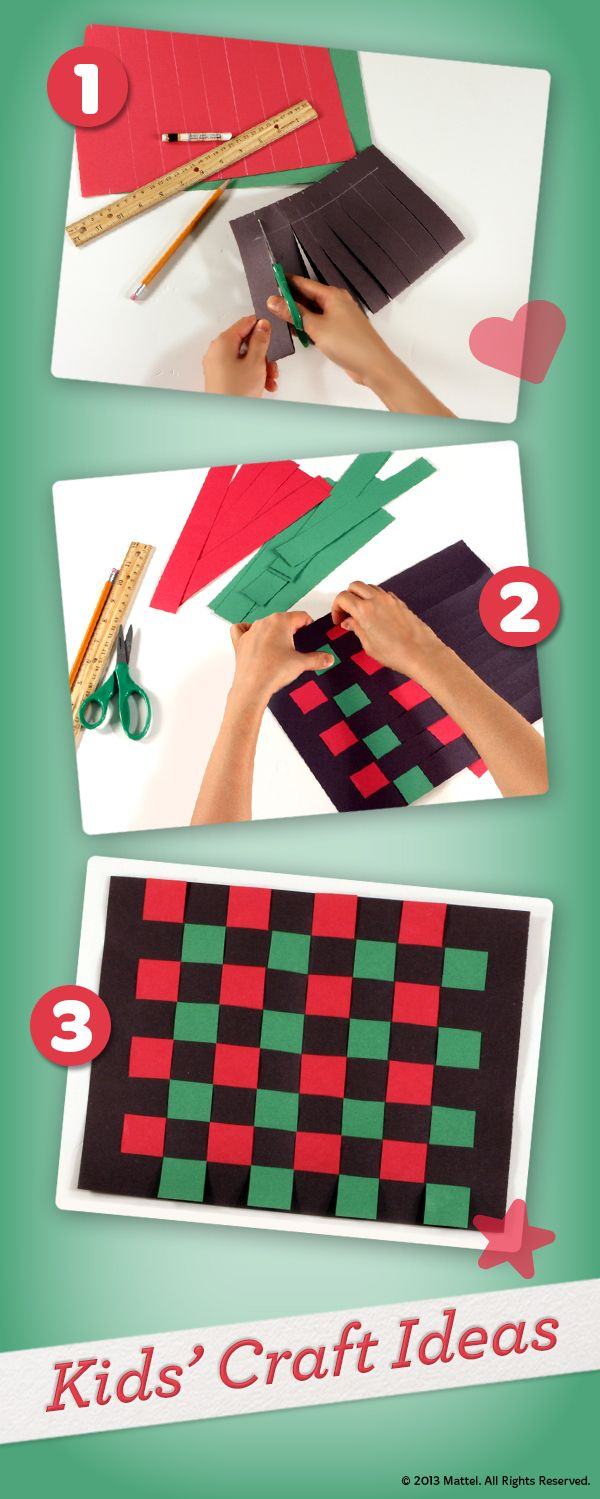 Easy, step-by-step instructions for kids to  make their own woven mat for Kwanzaa.  #Crafts #Activities #Playtime