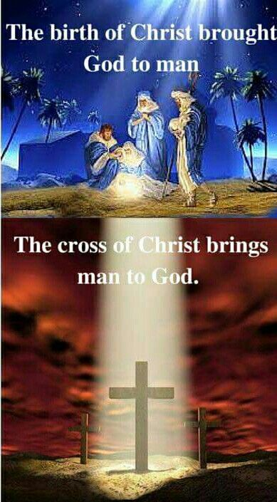 Emanuel, God with us. The birth of Christ brought God to man. The cross of Christ brings man to God. Prophetic art.