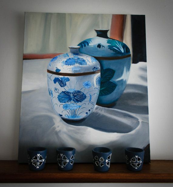 Blue pots. by LikaHorn on Etsy