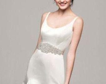 Bridal Sash Belt Wedding Dress Sash Belt Rhinestone Wedding Sash Belt Rhinestone Sash Belt Ivory Ribbon SA014LX