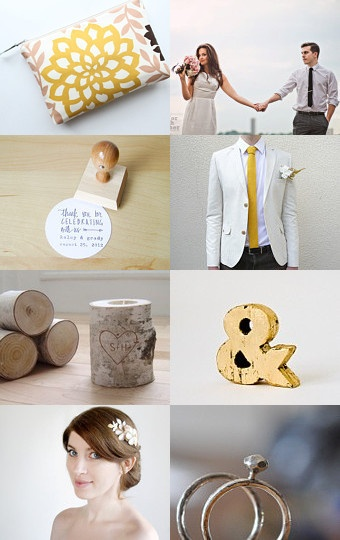 Such lovely wedding finds, gold & rustic!