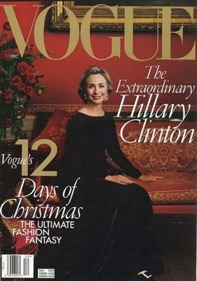 """December 1998: Hillary Clinton is the first First Lady to cover """"Vogue."""" 