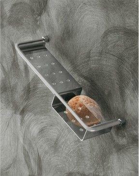 Satin Nickel Shower Basket contemporary shower caddies  #Luxury #Spa #Robe #Plush #pamper #bath #towels