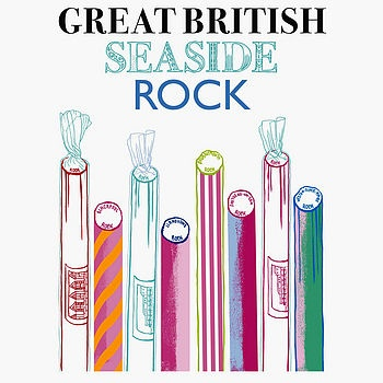 'Great British Seaside Rock' Print