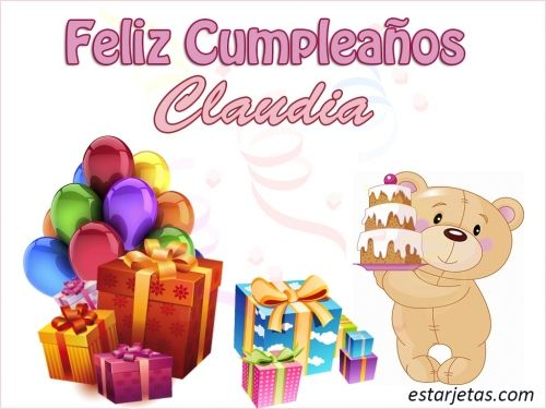 Feliz Cumpleaños Claudia 8