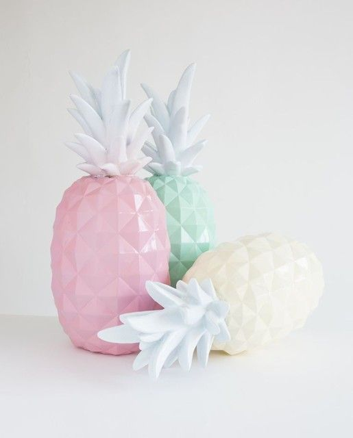 Pastel Pineapples. Don't know what they are for but they look fab!