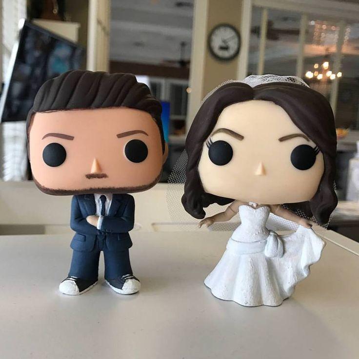 Custom pop figures for a wedding topper!