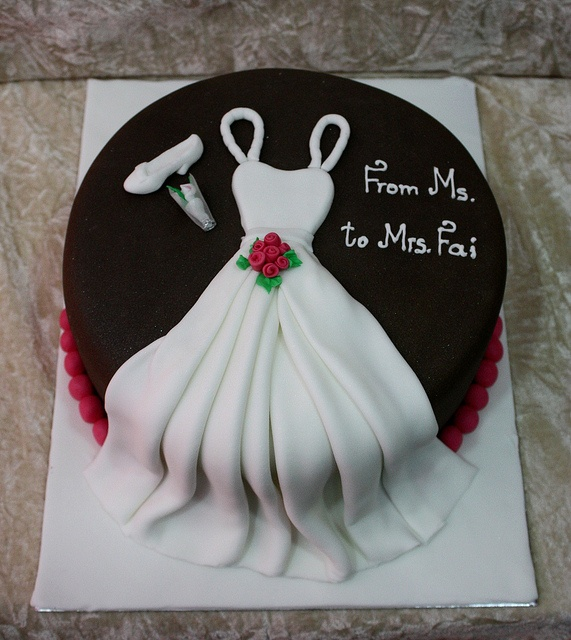 This is super cute!  Bridal shower/Engagement party/Bachelorette cake?