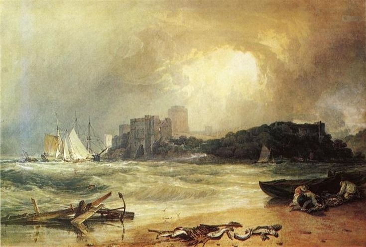 Pembroke Caselt, South Wales, Thunder Storm Approaching - Turner William
