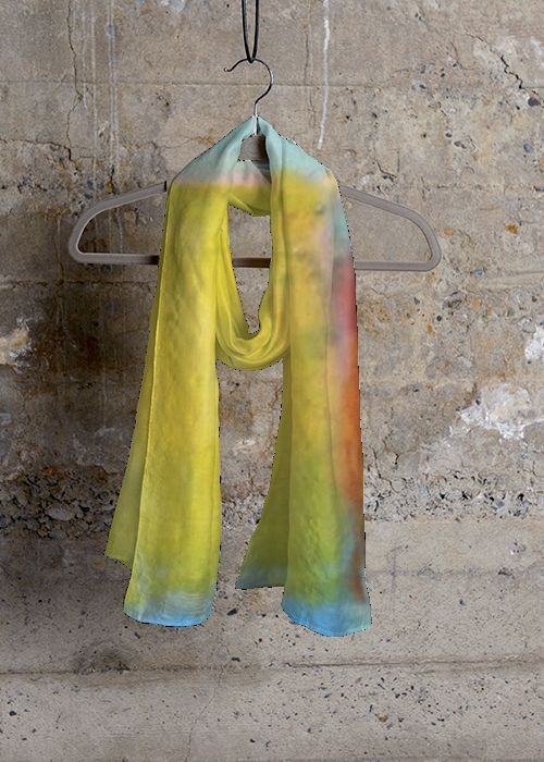 Cashmere Silk Scarf - MONARCH ABSTRACTION by VIDA VIDA PMYpFFYw4