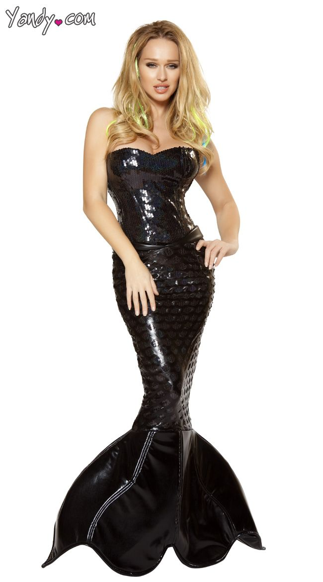 Mistress Mermaid Costume I hate that this is so pricey cuz you can do so many things with this basic black mermaid costume.