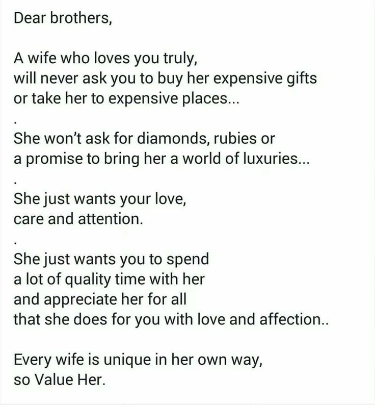 Every wife is unique in her on way