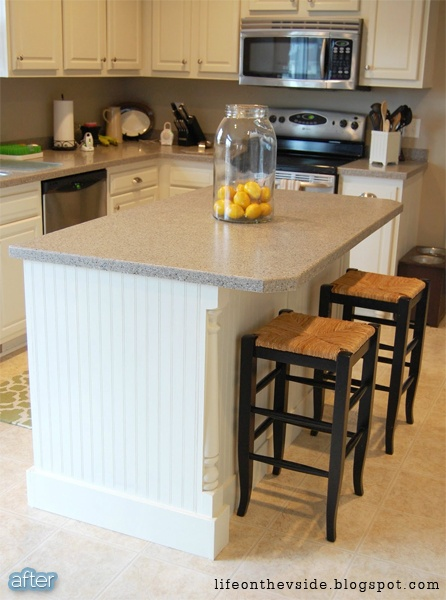 Better after isle get around to it kitchen pinterest for Add beadboard to kitchen cabinets
