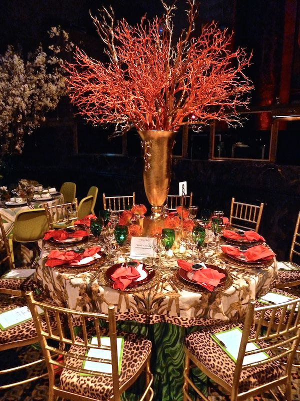 Lindsey Coral Harper Tony Duquette inspired table at the Lenox Hill Neighborhood House Gala