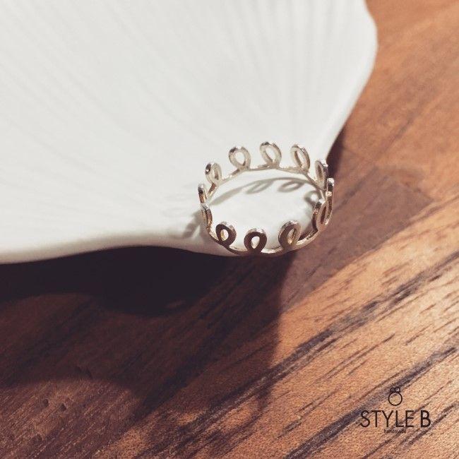 [Style B] 스타일비 트위스트 왕관 은반지 / twist crown silver ring : 스타일비