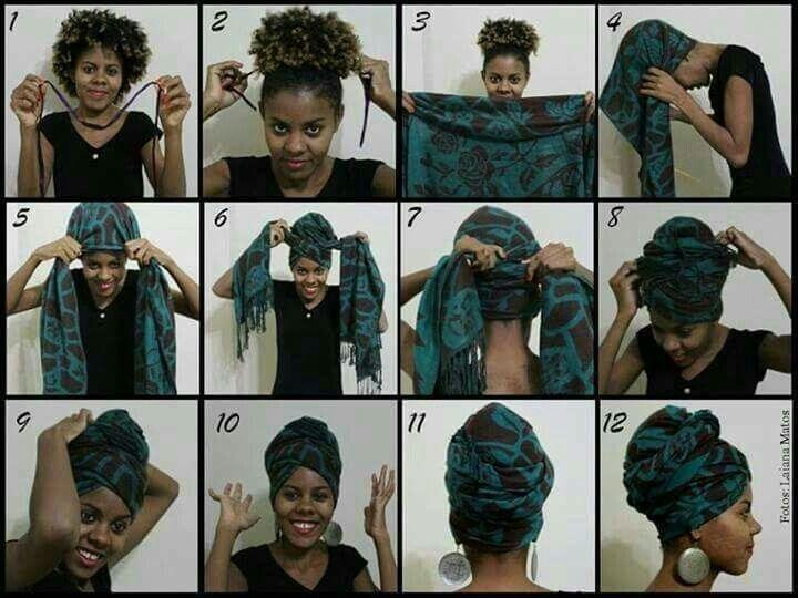 Tuto attaché foulard / Headwrap tuto