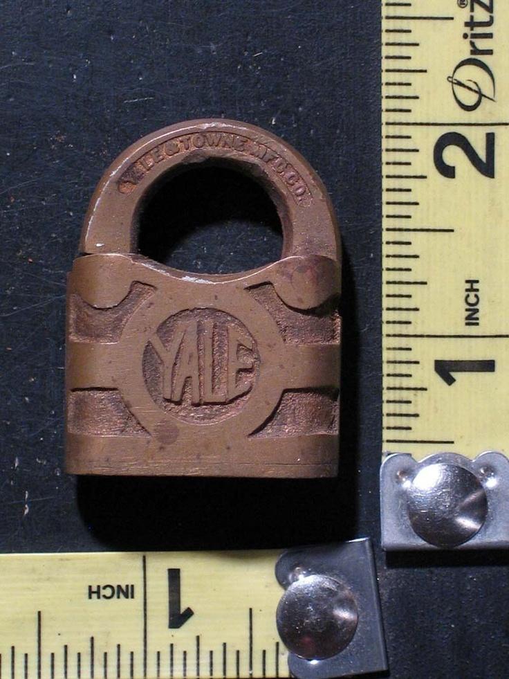 Old Vintage Small Y Yale & Towne Padlock / Pad Lock - No Key | eBay