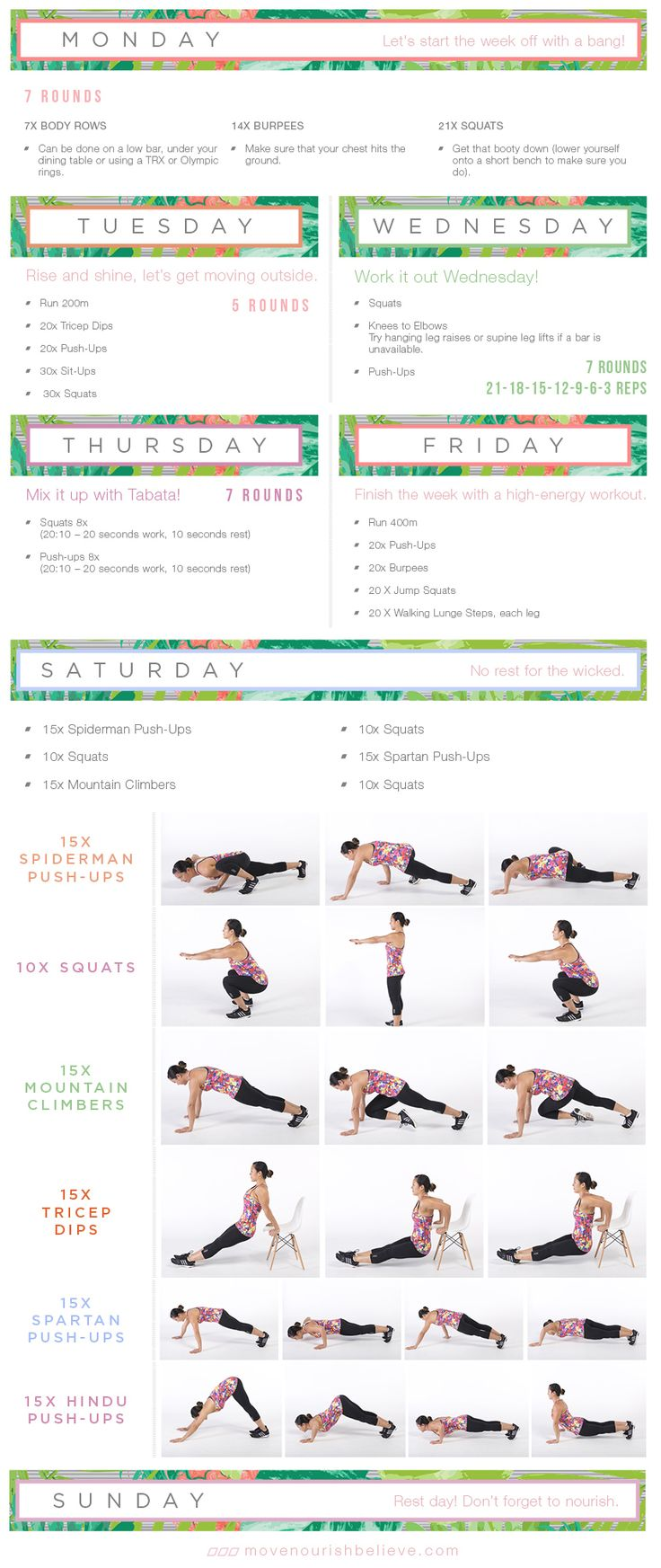 65 best images about Weekly Workouts – Weekly Exercise Plans