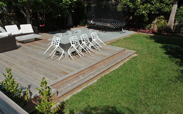 Pine Deck, Paving and Ready Lawn -Remuera
