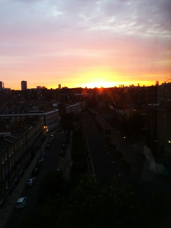 Sunrise over London roofs, Summer 2012, by Virginie Alix