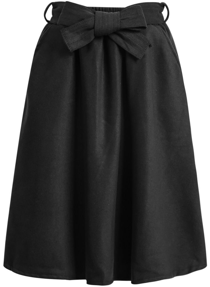 Falda de lana lazo-negro 17.40