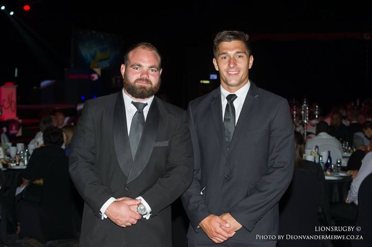 Hencus van Wyk and Harold Vorster looking dashing in a suit and tie at the Lions Rugby Group's Awards Night.  #LeyaTheLion #Liontainment #BeThere #MyLionsMoment #LionsAwards2017