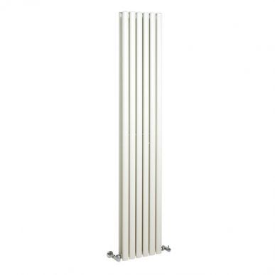 Retro 326 - White Vertical Double Panel Radiator 1800mm x 354mm - Image 1