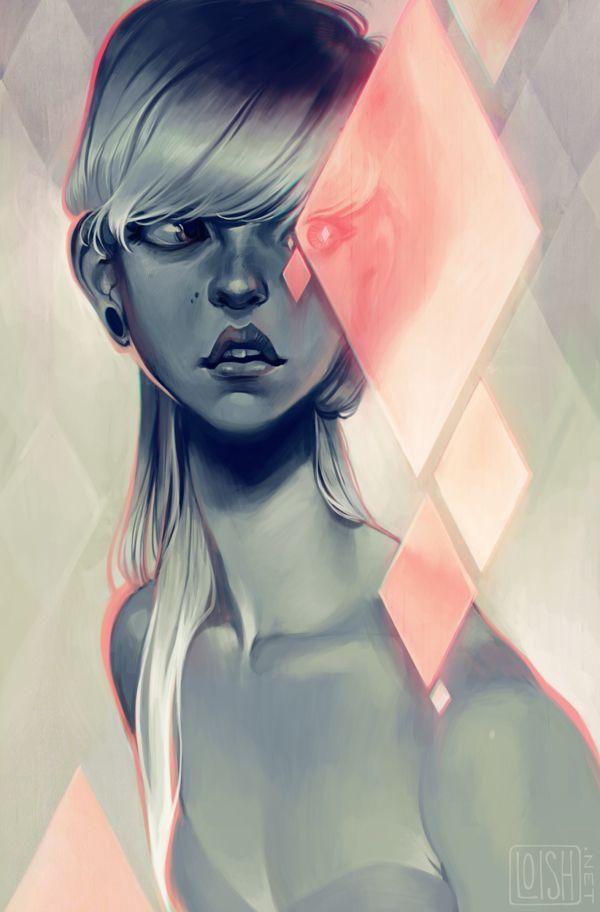 """Les digital paintings """"girly"""" de Loish aka Lois van Baarle"""