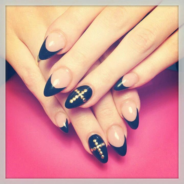 Best 25 rounded stiletto nails ideas on pinterest elegant nails i like this but with regular square tipst a fan of the stiletto nail designsrounded prinsesfo Image collections