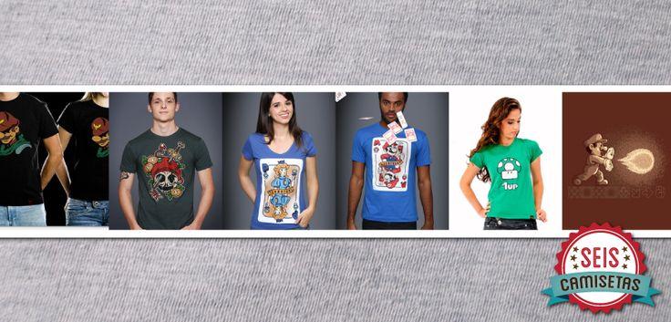 Seis Camisetas para quem é fã de Mario | T-shirt News