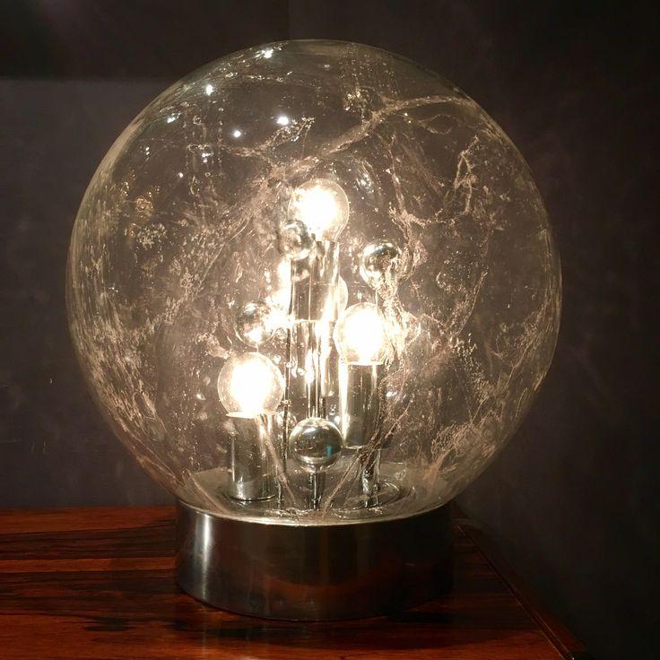 Retro design globe lamp, vintage, glass, interior