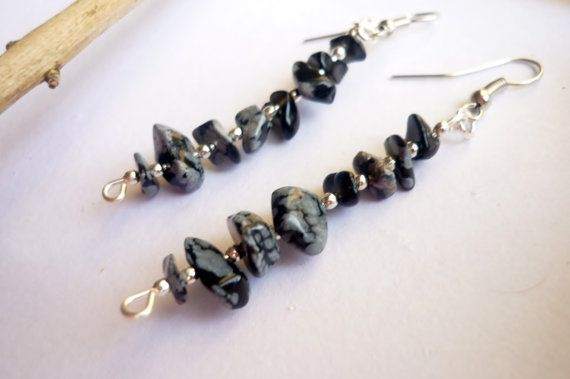 The pattern of this beautiful gemstone reminds of a winter night with snow falling down.  Snowflake obsidian has the property of bringing things to the surface.  Snowflake obsidian can provide balance during times of change. It is a stone of serenity and purity, and can shield against negativity or used for protection from physical and emotional harm.